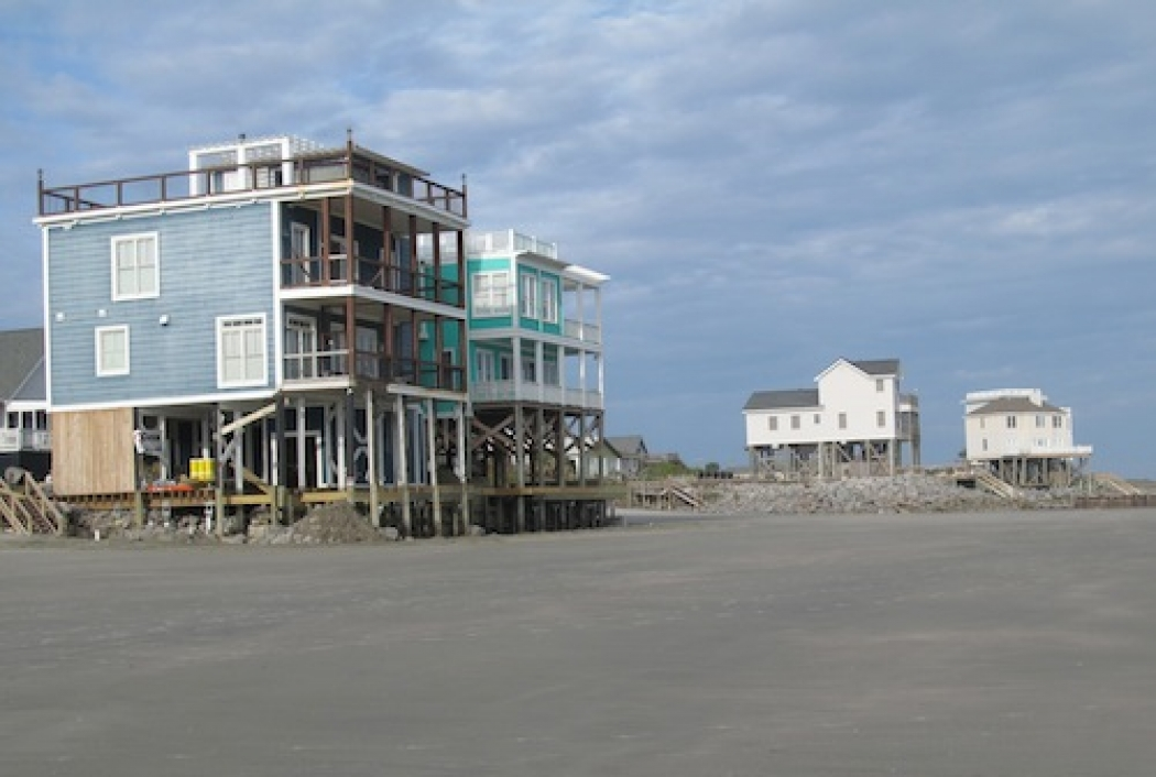 Homes Built Up To The High Tide Mark At Folly Beach S C Have To S Up Their Foundations To Keep Them From Eroding Away Credit Bobby Magill