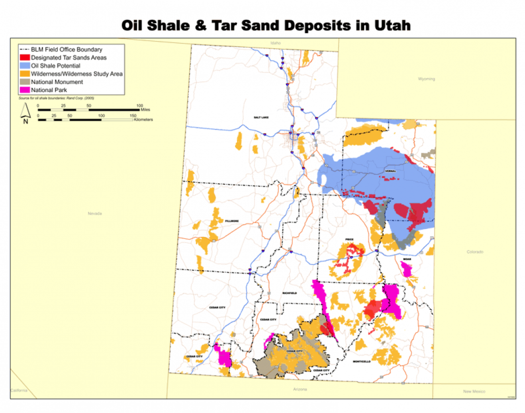 Low Oil Prices Force Slowdown Of US Tar Sands Project Climate - Map us oil fields