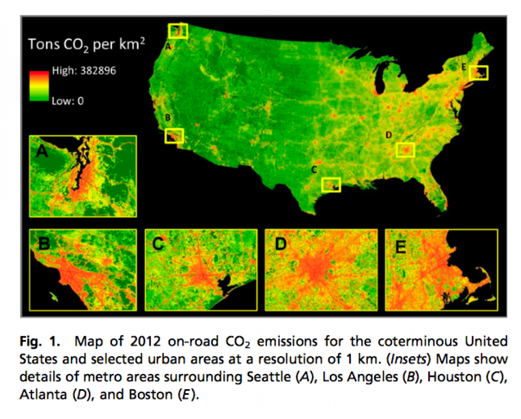 Urban Sprawl Cars Hamper Cities Best Efforts On CO Climate - Us greenhouse gas emissions map