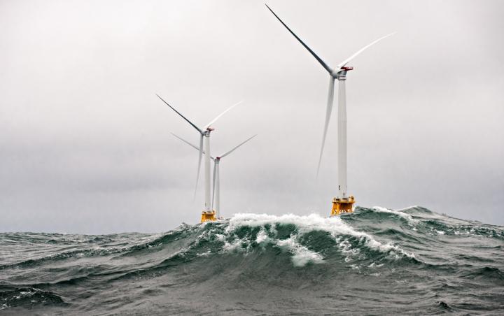 Ветровая электростанция на острове Блок, США