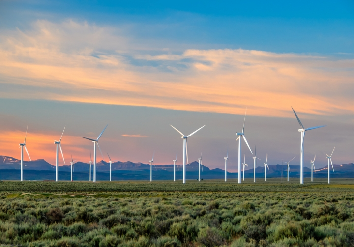 A wind farm in Wyoming.