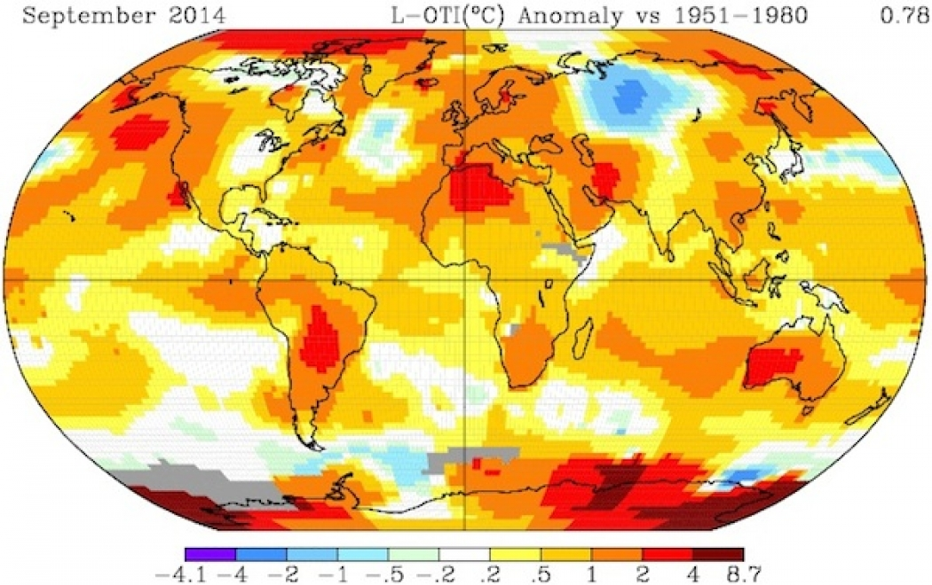 Nasa 2014 Warmest Year On Record