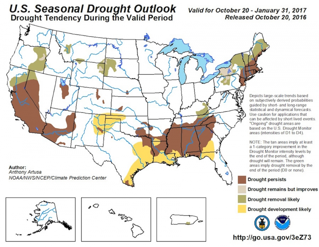 Winter Drought Forecast For Much Of U S