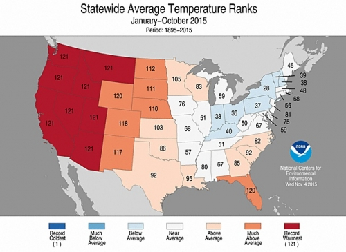 Western States Have Warmest Year So Far Climate Central - 11 western us states maps
