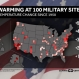 Warming at 100 Military Sites Across the U.S.