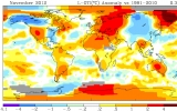 November Is Globe's 333rd Straight Month of Warm Temps