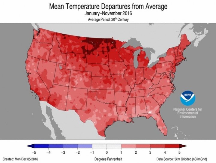 Record-Warm Autumn Solidifies 2nd-Hottest Year for U.S.   Climate ...