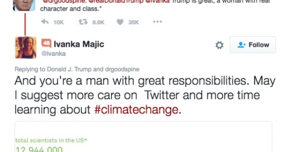 Trump Tweeted the Wrong Ivanka. She Gave Him Climate Advice