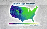Find Out When the Coldest Day Usually Hits Your Town