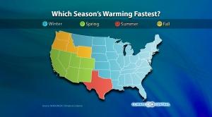 Seasonal Warming Trends
