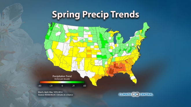Spring Precipitation Trends