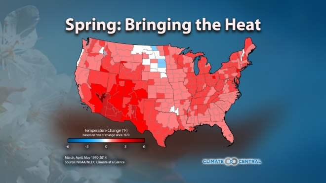 Spring Temperature Trends