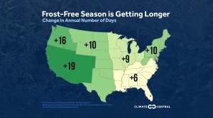 Frost-Free Season is Getting Longer Across U.S.