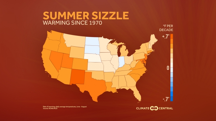 US Faces Dramatic Rise in Extreme Heat Humidity Climate Central