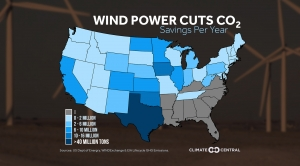 Wind Power Cuts CO2