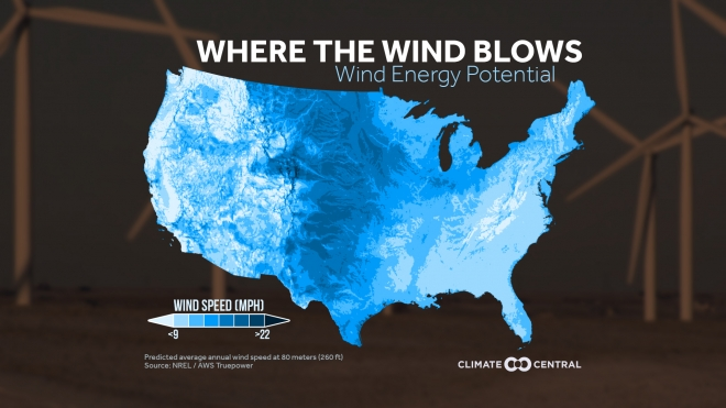 This is Where the Wind Blows in the U.S.