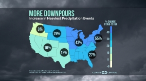 More Downpours: Increase in Heaviest Precip Events