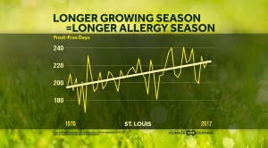 Here's How Frost-Free Season Affects Allergy Season