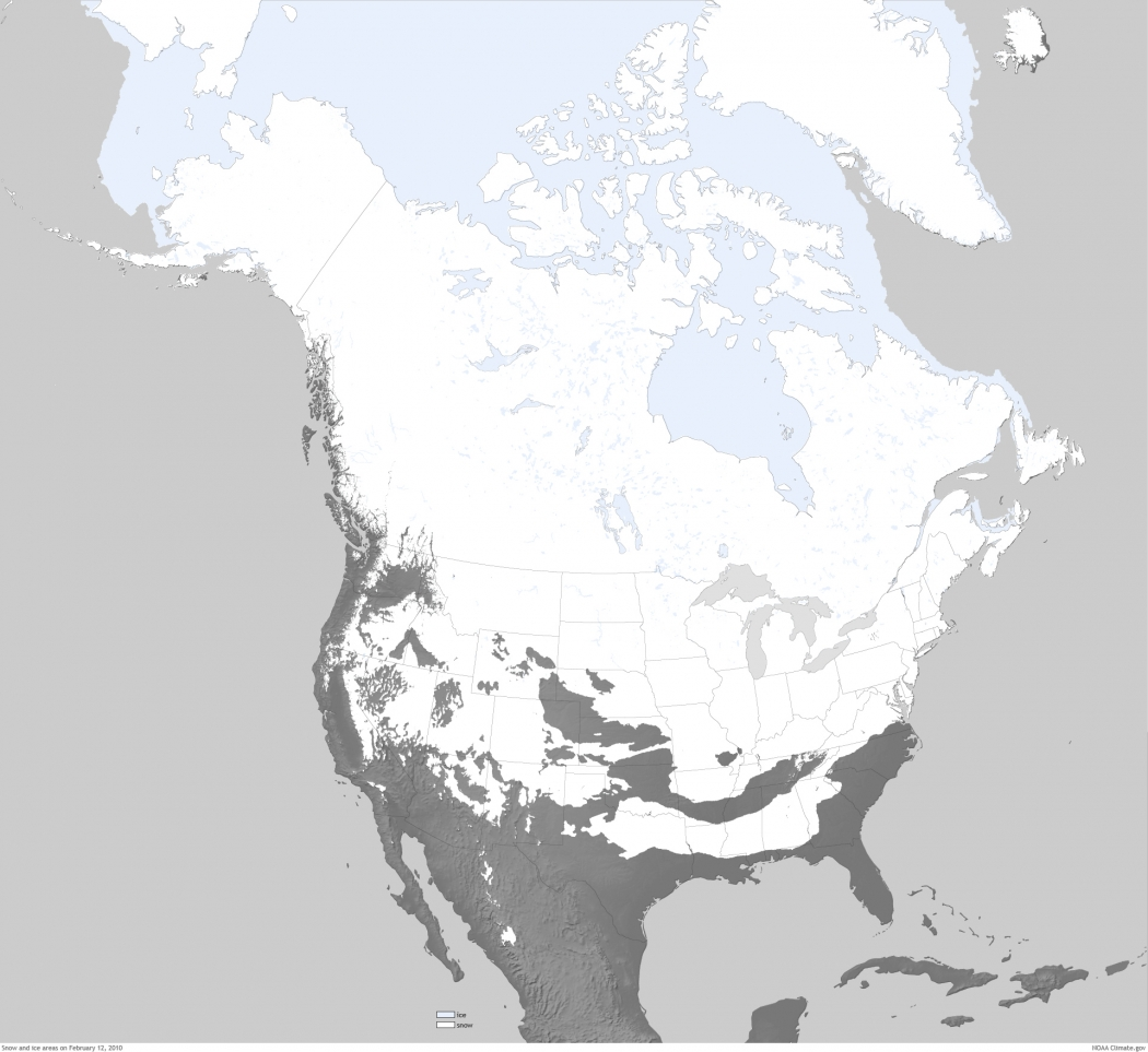 Whiteout Map Shows Last Time All States Had Snow Climate Central - Map of all the states