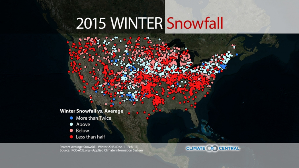 winter weather splits the u s