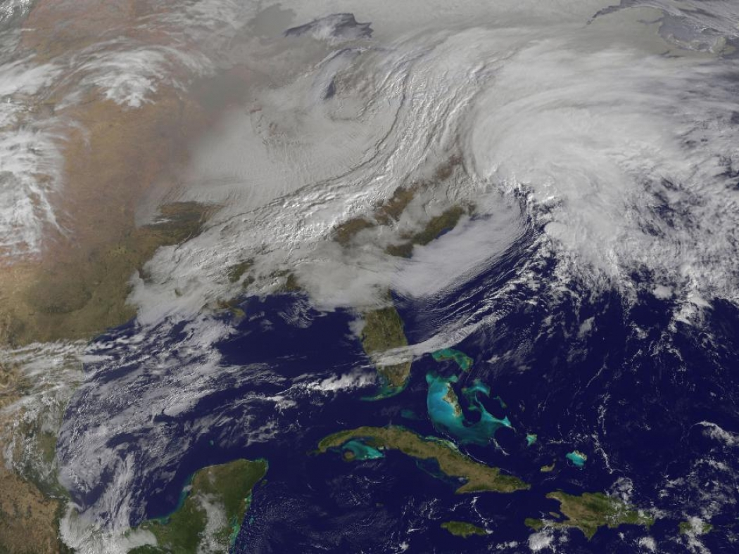 What You Need To See To Understand Blizzard Nemo Climate Central - World satellite view of weather