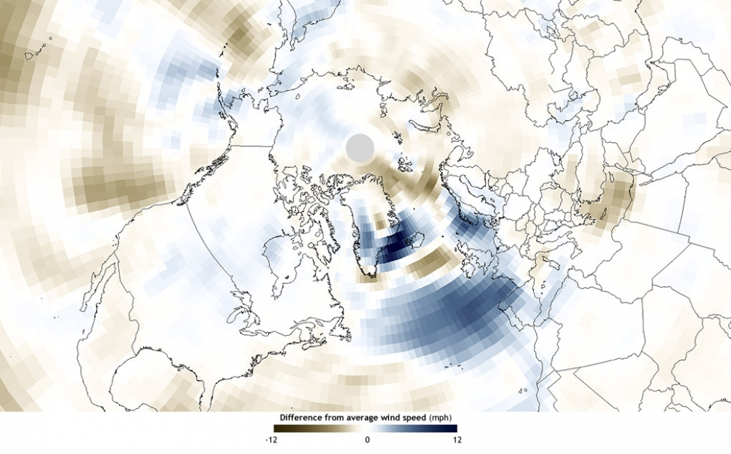 What winds from 20 massive winter storms look like climate central a map showing wind anomalies for january february click image to enlarge credit noaas climate publicscrutiny Images