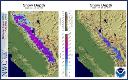 California Snowpack Returns But Fears Held For Future Climate - Us snowpack map