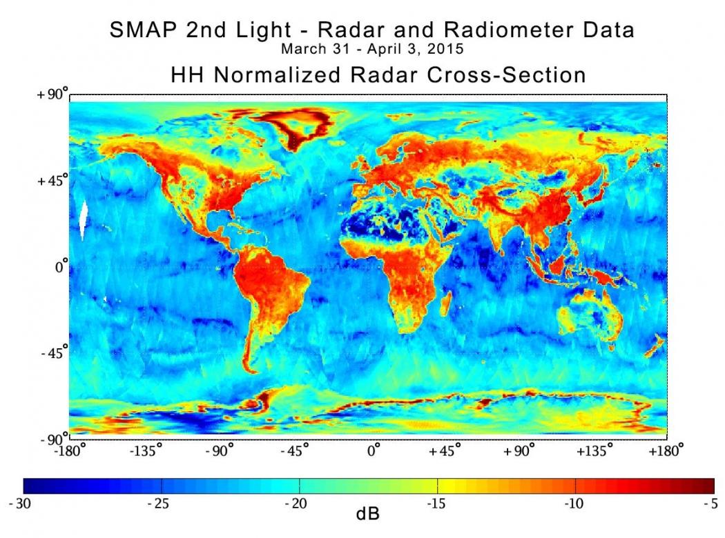 New nasa satellite gets the dirt on soil moisture for Soil temperature map