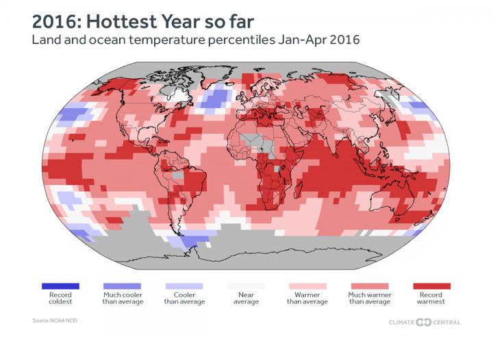 2016 ya es candidato al récord de calor