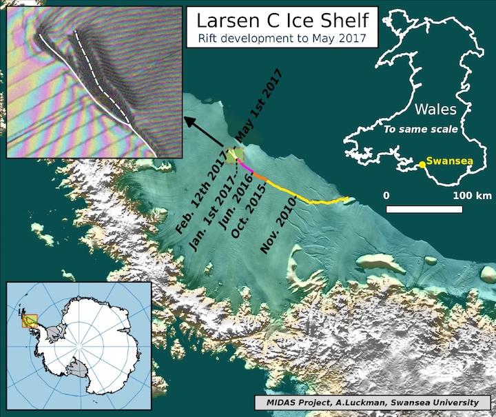 Larsen C, la grieta más peligrosa de todas