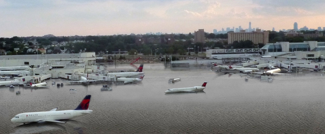 What Laguardia Airport Could Look Like At High Tide With 5 Feet Of Sea Level Rise An Amount That Could Occur By 2100 According To Some Estimates