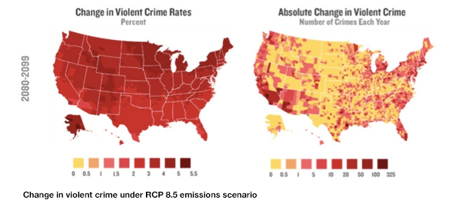 Graphics That Show US Climate Change Costs Climate Central - Map of violent crime in us