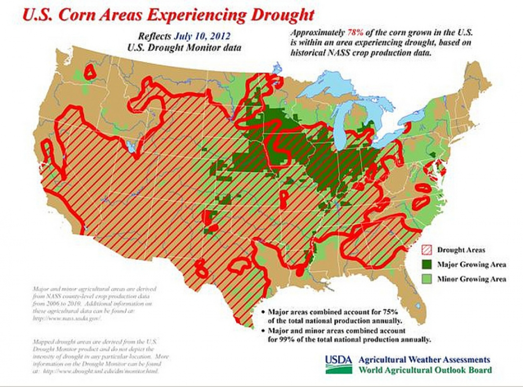 Drought Prompts Natural Disaster Declaration In 26 States - Us-disaster-map