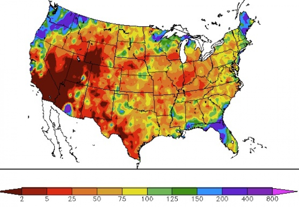 Explaining The Extreme Drought In US Via Maps Climate Central - Precipitation map of us