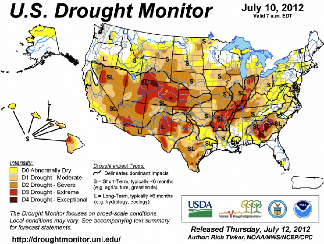 Explaining The Extreme Drought In US Via Maps Climate Central - Us droup map california chage