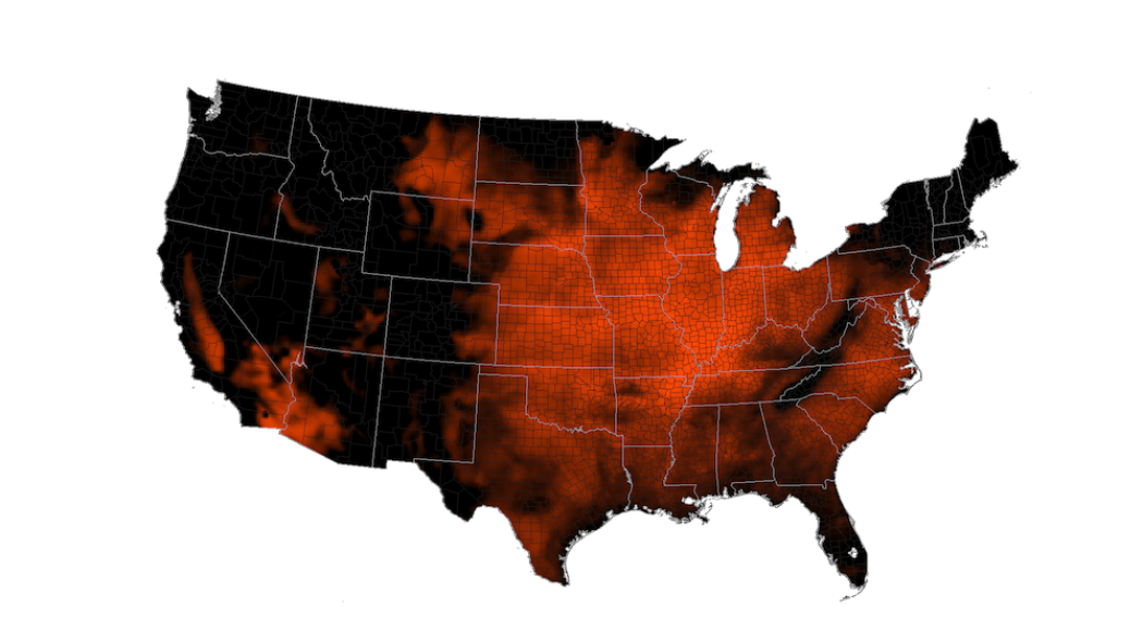 Noaa Visualization Showing High Temperature From July 3 To July 7 As Forecast By A Computer Model The Brighter Orange Colors Show Temperatures Higher Than