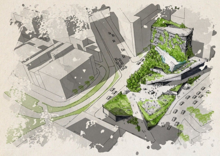 An Architectural Rendering Of One Climate Museum Design. Credit: Erin  Graham/RISD. U201c
