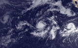 Atlantic Storm Sets Records as 3 Others Span Pacific
