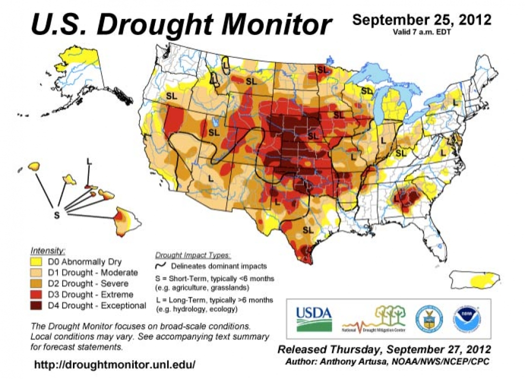 Another Week Brings More Pessimistic Drought News Climate Central - Drought forecast us map
