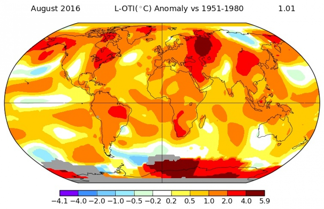 august ties july as hottest month ever on record climate central