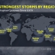 The Strongest Cyclones by Region