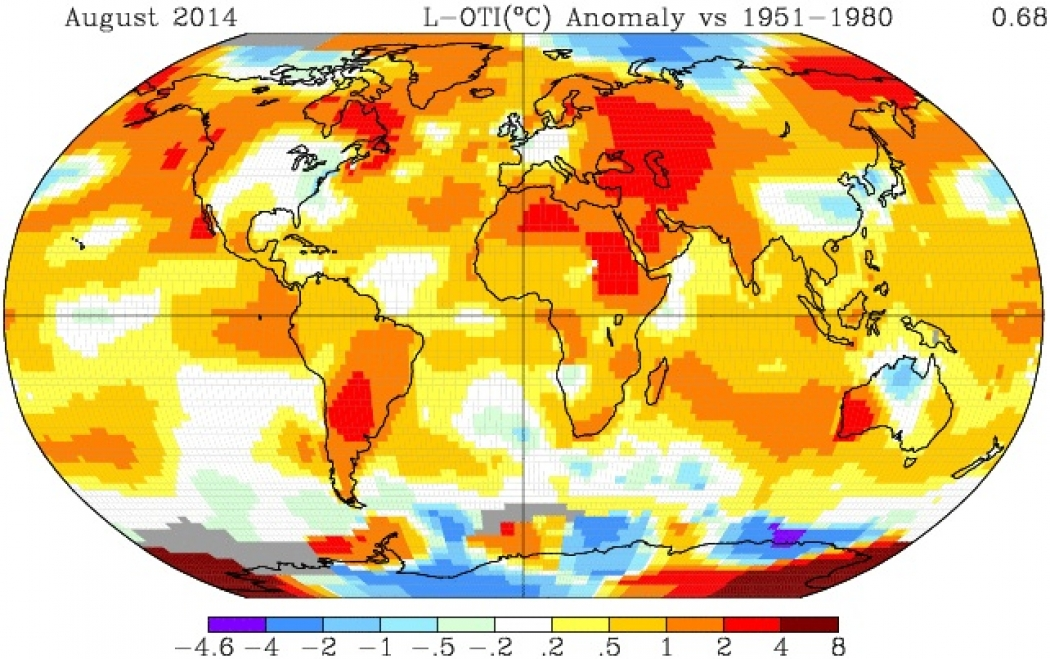 NASA Ranks This August as Warmest on Record | Climate Central