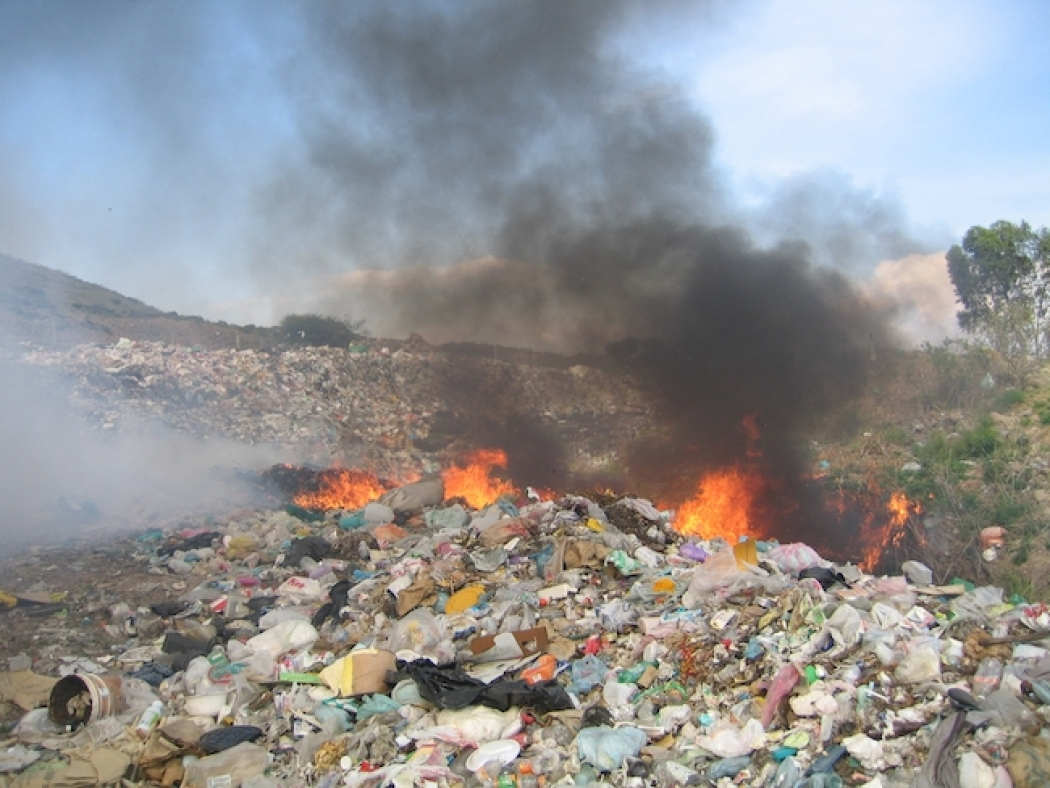 for air pollution trash is a burning problem climate central