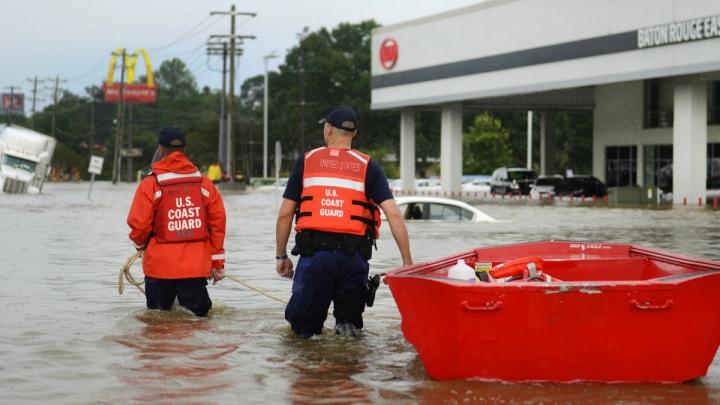 Louisiana Floods Directly Linked To Climate Change Climate Central - Map of us if climate change creates flooding on coats