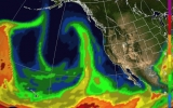 'Atmospheric River' Aims At West Coast; Warmup in Plains