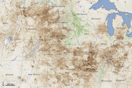 A Record Setting Drought Has Devastated A Wide Swath Of The U S Credit Nasa