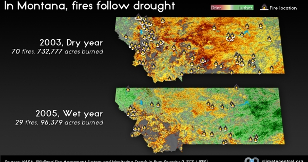 In Montana Fires Follow Drought  Climate Central