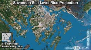 Savannah Sea Level Rise Projection