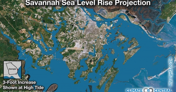 Savannah Sea Level Rise Projection Climate Central
