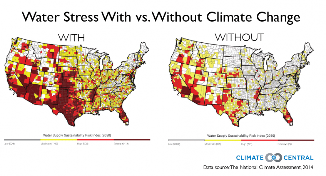 Climate Change In The US In Compelling Charts Climate Central - Climate change projections us map
